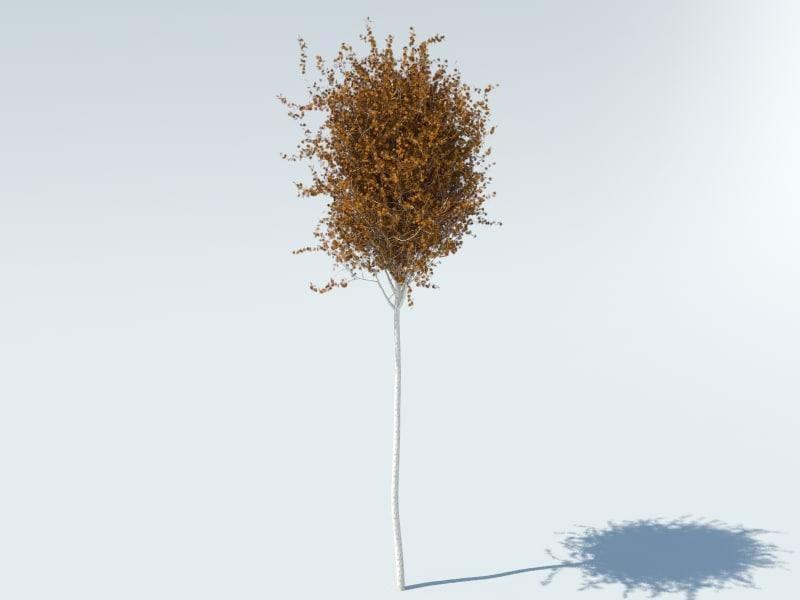 free max mode realistic aspen tree