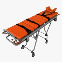 3d realistic stretcher