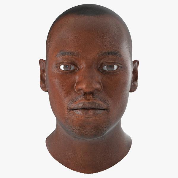 african american male head x