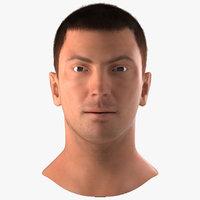 male head hair 3d model