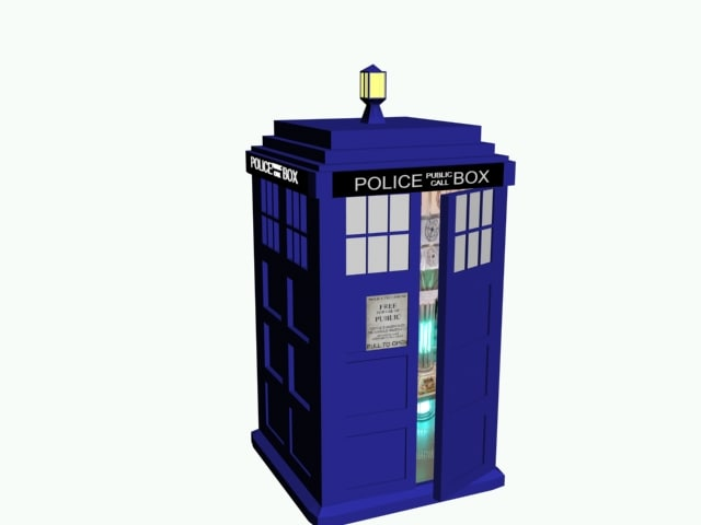 tardis time doctor 3d obj