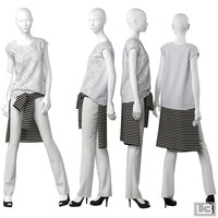 woman mannequin obj