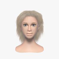 3d model woman s head 002
