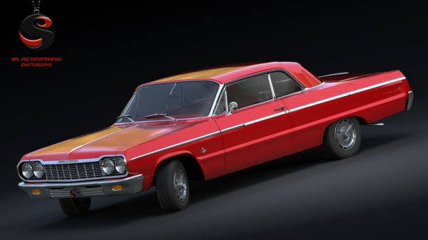 3ds max chevrolet impala ss 409