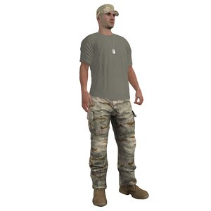 rigged soldier max