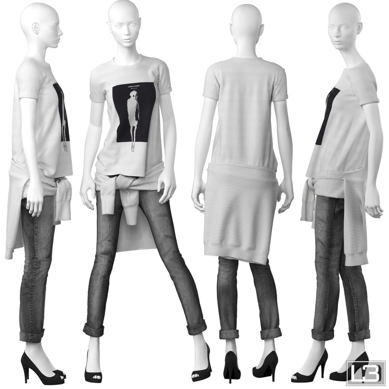 woman mannequin 3d model