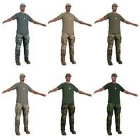 3d soldier hat