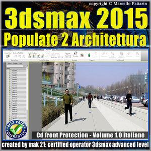 3ds max 2015 Populate 2 Architettura vol 1.0
