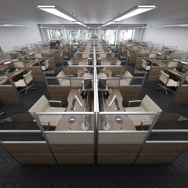 stylish center offices 3d max