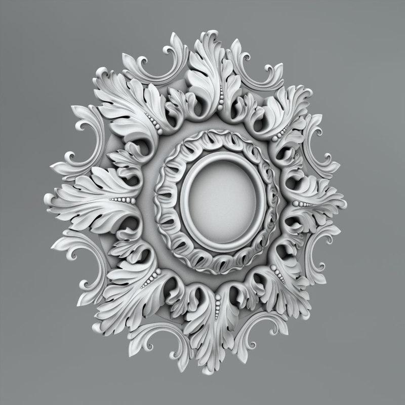 3d c4d classical decoration ornamental