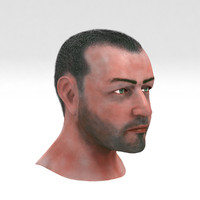 aged male head 3d model