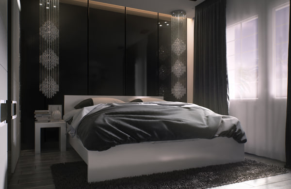 3d model bedroom ready render