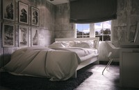 3d max scene concrete bedroom ready