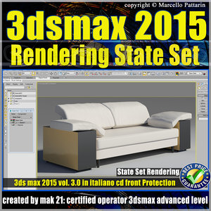 3ds max 2015 State Set vol. 3 CD Front