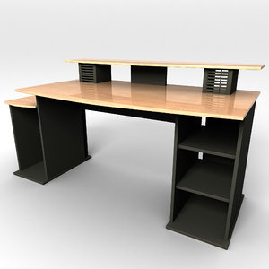 multiple computer desk 3d model