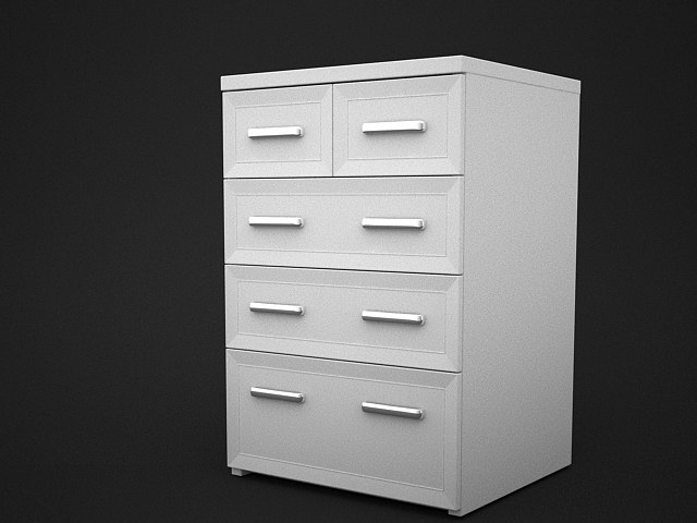 maya simple chest drawers