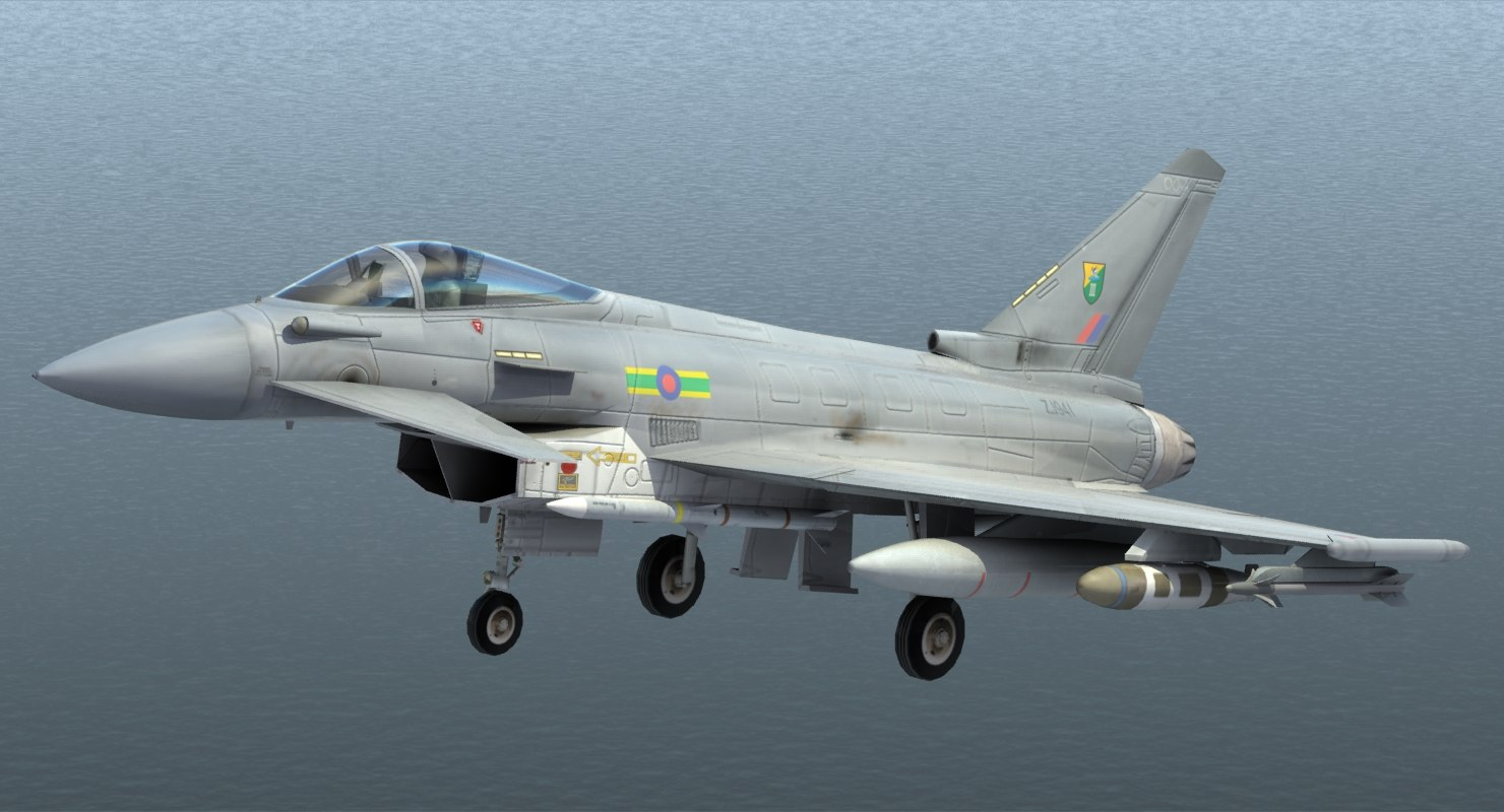 3d model typhoon fighter jet raf
