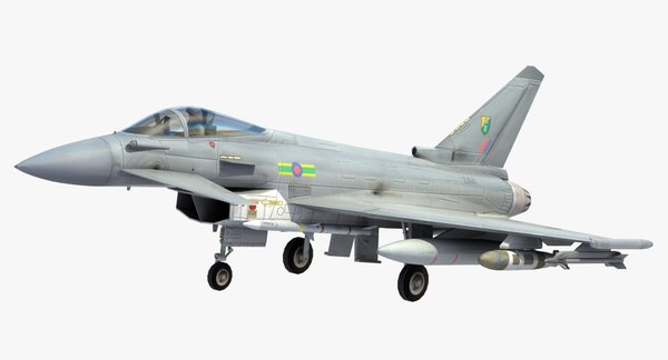 3d model typhoon fighter jet raf