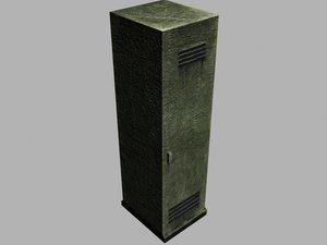 old locker 3d model
