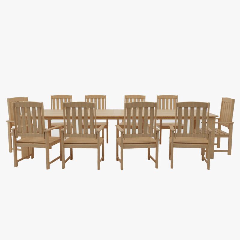 wooden furniture obj