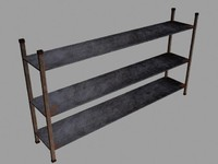 free warehouse shelves 3d model