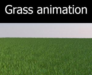 3d max grass animation