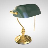 bankers desk lamp c4d