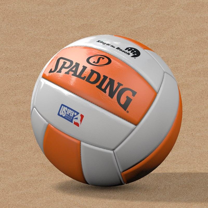 beach volleyball 3d model