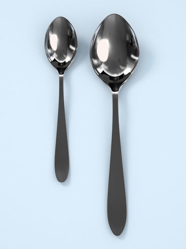 spoons teaspoon 3d model
