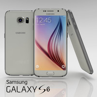 samsung galaxy s6 white 3d model