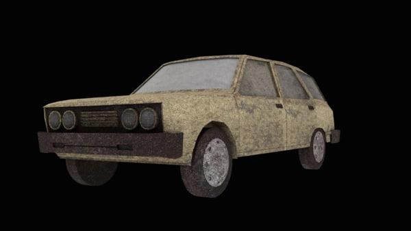 free obj model mirafiori vagon fiat