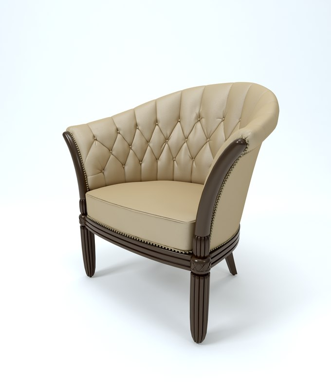 lounge armchair 3d model