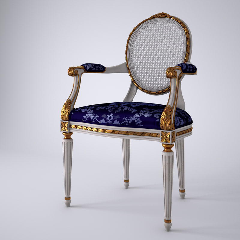 3d french louis xvi oval model