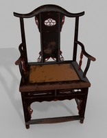 Antique Chinese Sanxi chair