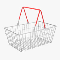 3d model of wire shopping basket