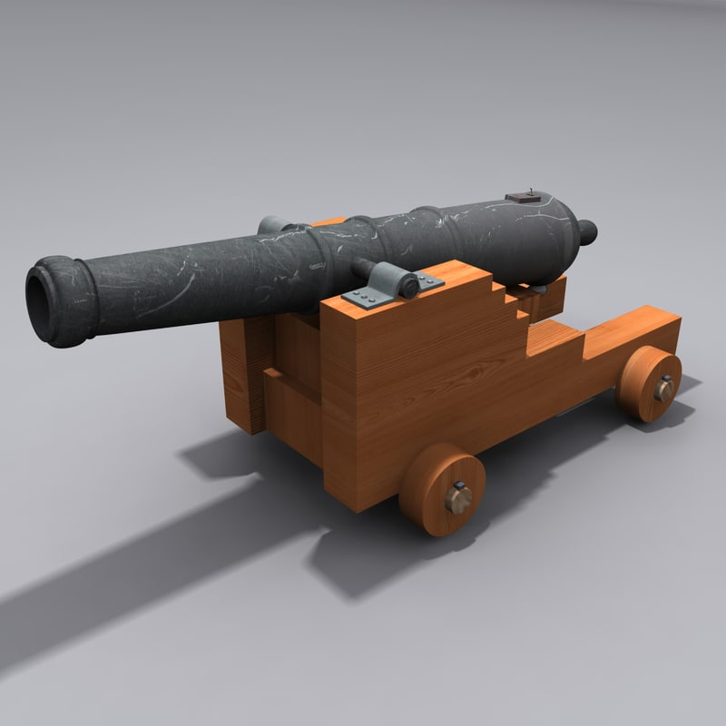 3d model cannon artillery