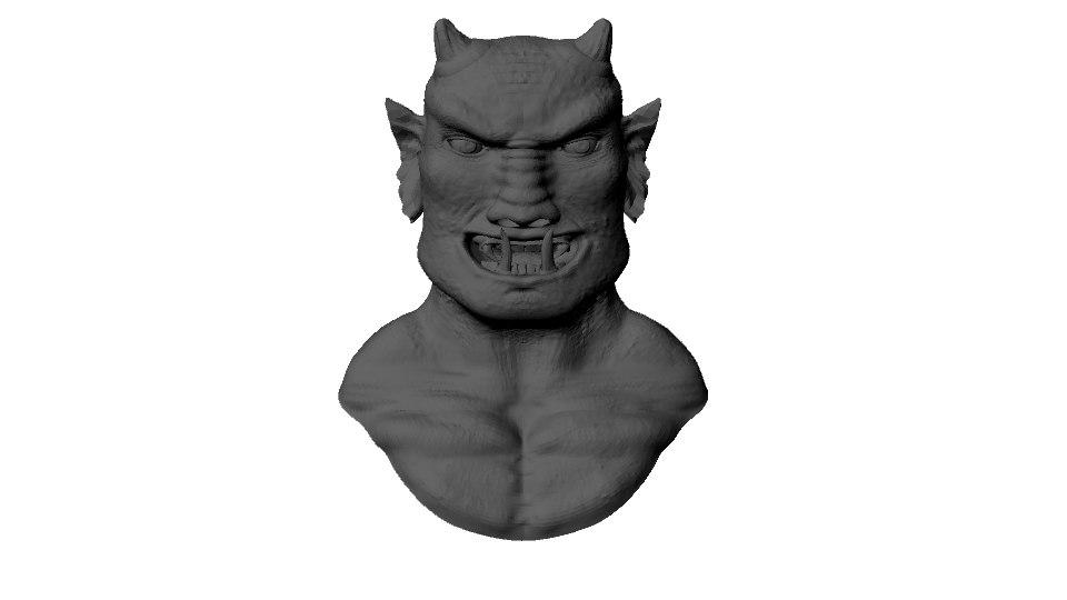 3d goblin bust model