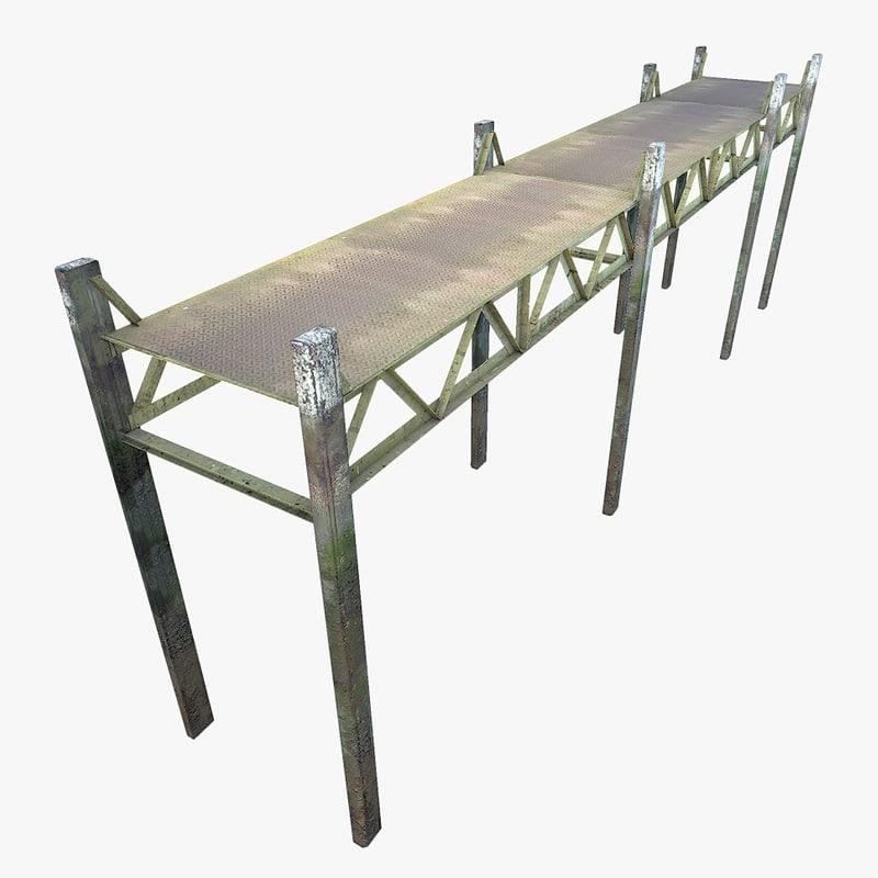 ready low-poly metal pier max