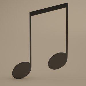 obj musical symbols modeled
