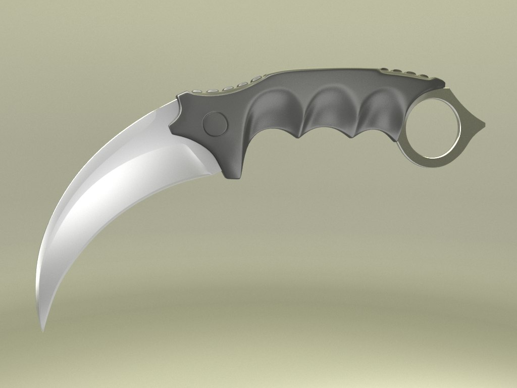 3d model karambit curved knife