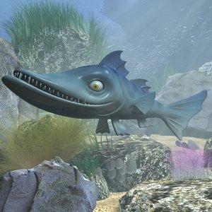 3ds cartoon barracuda ged