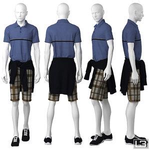 3d man mannequin