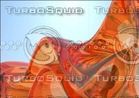 Glass orange wave