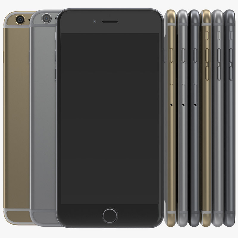 3d iphone 6 set modeled