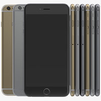 3d iphone 6 set modeled