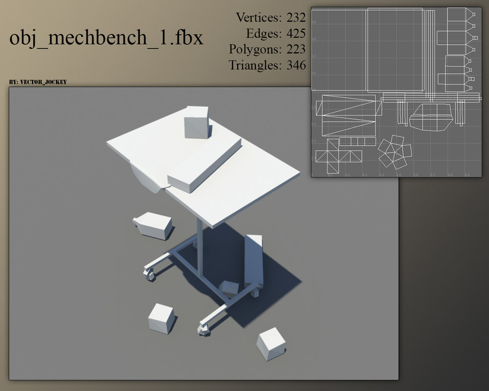 mechanics bench 3d model
