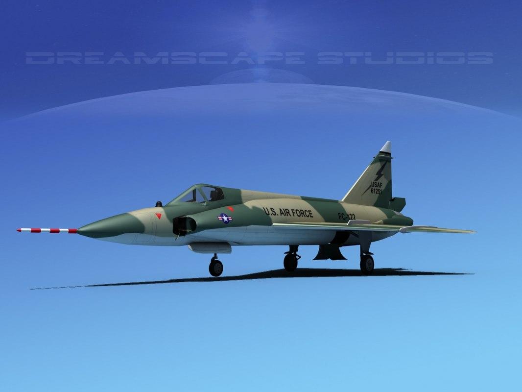 3d model f-102 convair air force