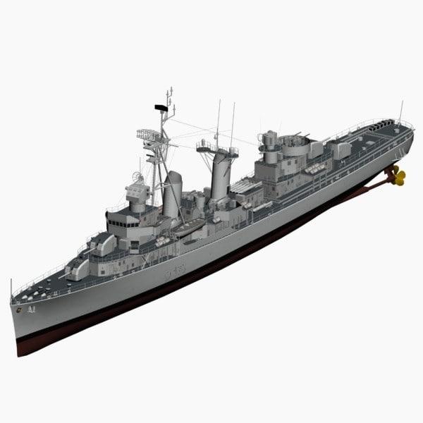 3ds max d119 fletcher class destroyer