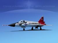 3d model of f-102 convair air force