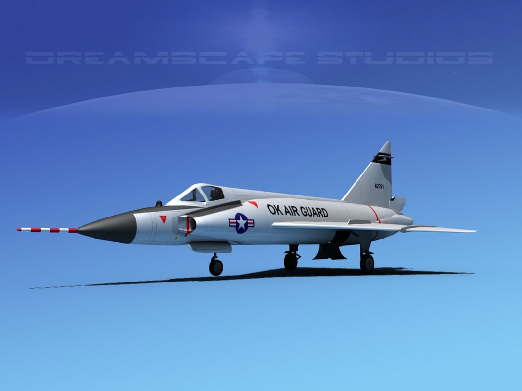 f-102 convair air force 3d 3ds